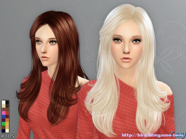 模拟人生4 女性优雅微卷长发cazy