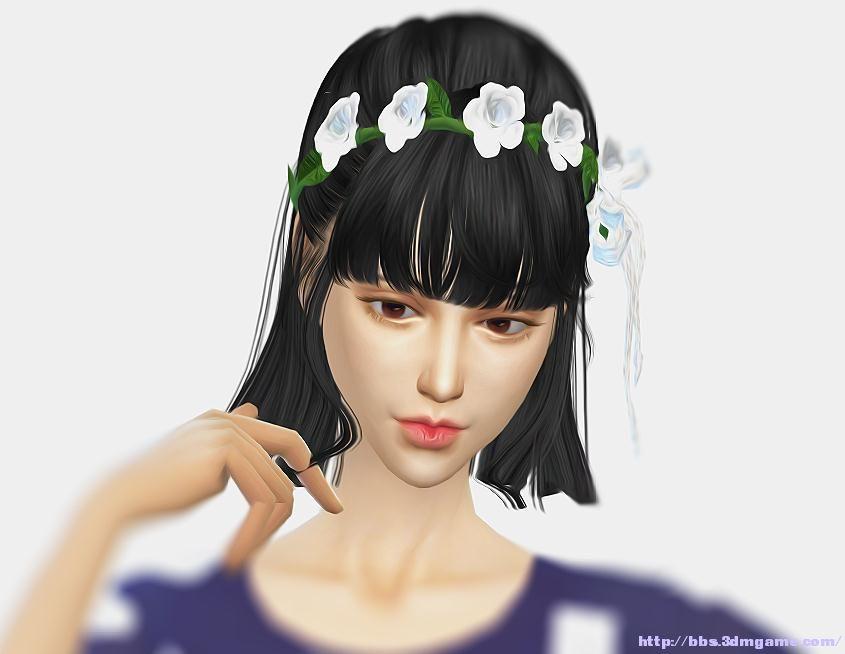 模拟人生4 清纯妹子;清纯可爱的萌妹子一枚,精致的妆容,乖巧的衣服,喜