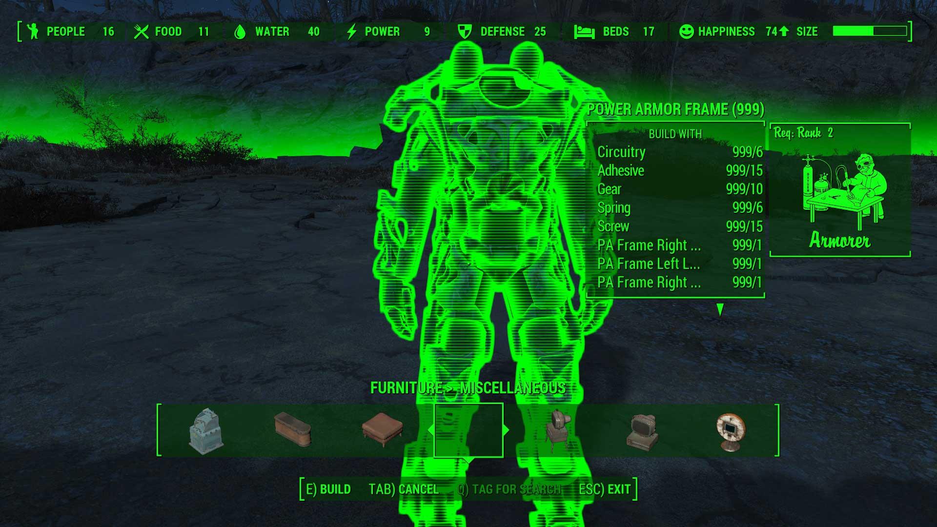 辐射4 可制造的动力甲mod