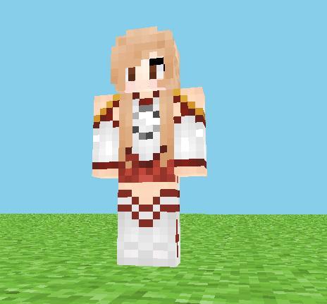 我的世界 刀剑神域亚丝娜皮肤