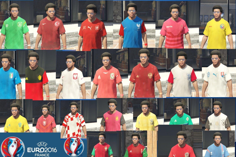 2016年法国欧洲杯各参赛球队球衣包mod