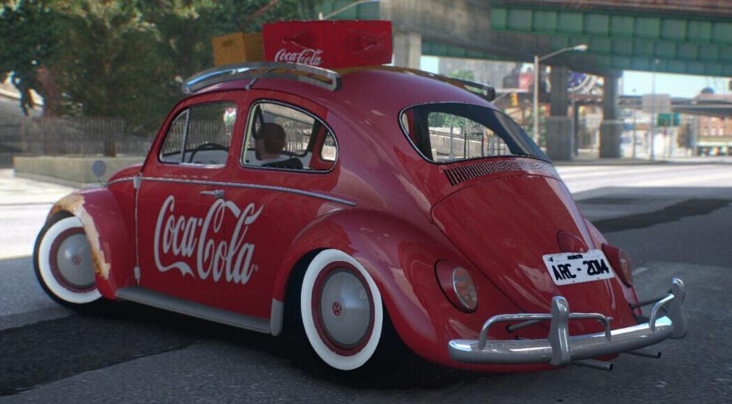 侠盗猎车4 复古可口可乐外观大众甲壳虫车mod