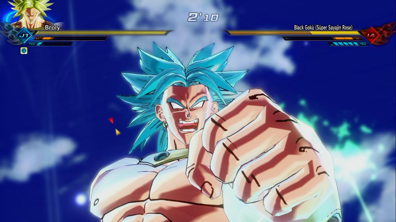 mod详情: 布罗利添加觉醒技  超级赛亚人 变身超蓝状态 有气